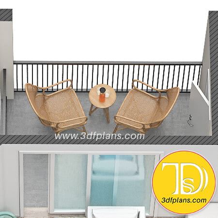 Apartments Balcony 3d