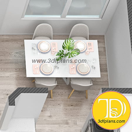 dining table 3d, dining 3d rendering, dining room 3d, rectangle dining table