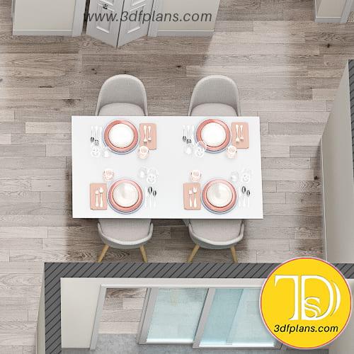 dining room 3d design, dinning 3d plan