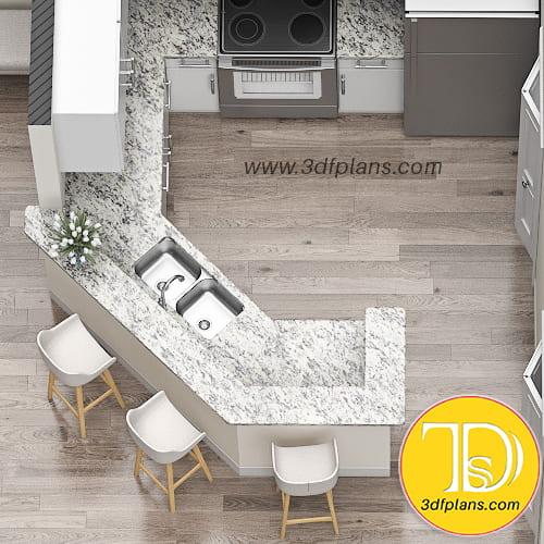 kitchen 3d, bar chair, kitchen design, kitchen planning
