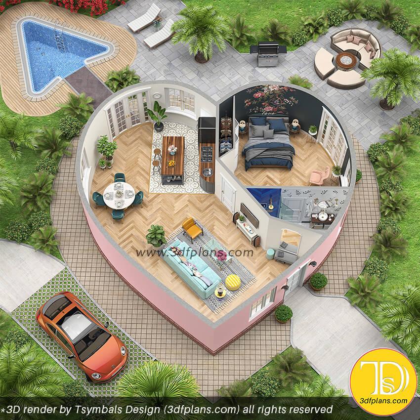 floor plan, 3d floor plan, advertising 3d floor plan, stylish home plan, property floor plan, fairy 3d floor plan, fairy home plan,