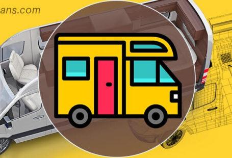 RVs Layout 3D Design, Caravans Layout 3D Design, Motorhomes Layout 3D Design, Campers Layout 3D Design, Tiny House On Wheels