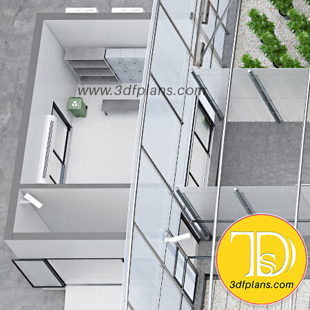 Green house 3d, greenhouse entrance planning, laboratory locker room, greenhouse locker room
