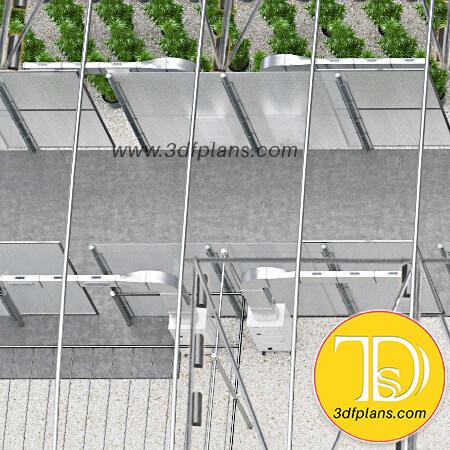 Greenhouse walkway, greenhouse equipment, greenhouse interior, greenhouse inside