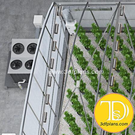 Greenhouse air ventilation system, ventilation system, industrial ventilation system