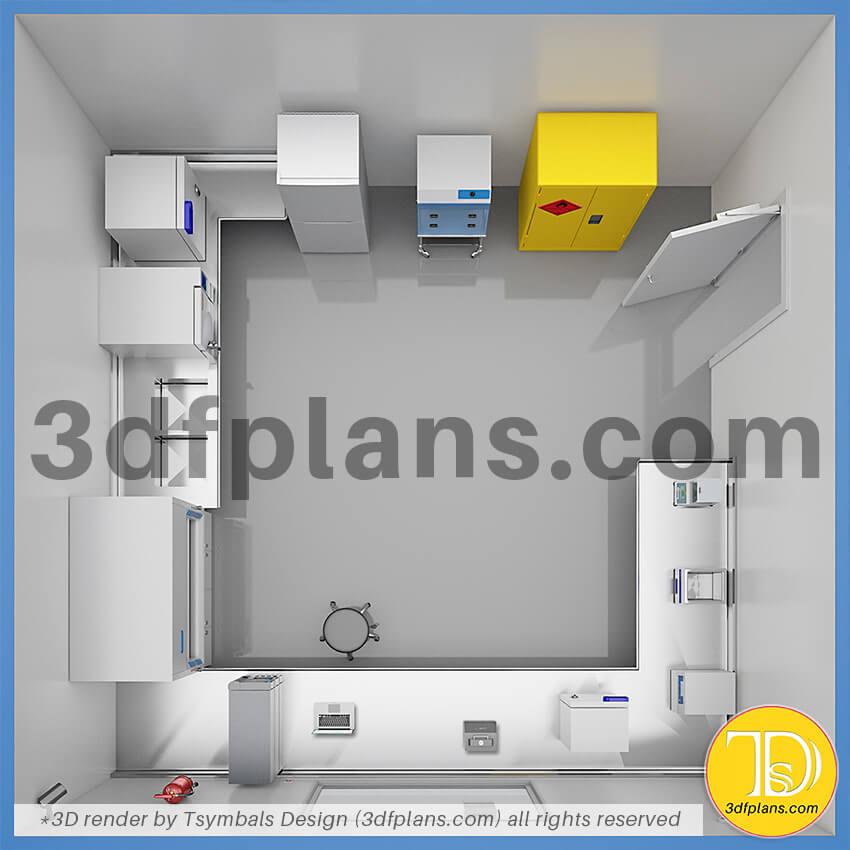 Laboratory equipment, lab 3d design