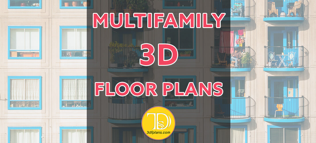 Multifamily 3d floor plan, 3d floor plan for multifamily, multifamily real estate