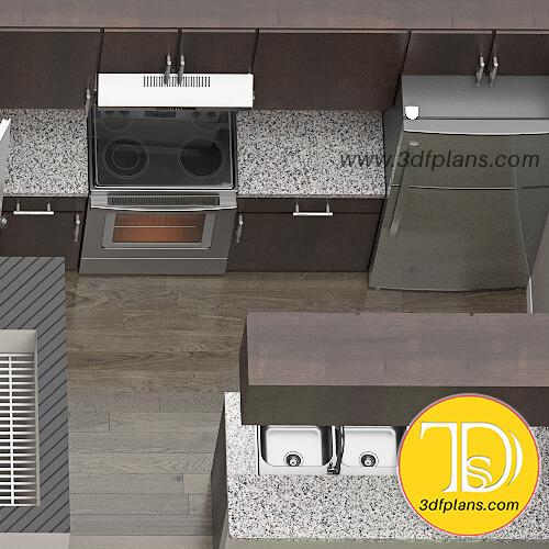 3d floor plan of the kitchen, kitchen 3d layout, nice kitchen, kitchen design 2020