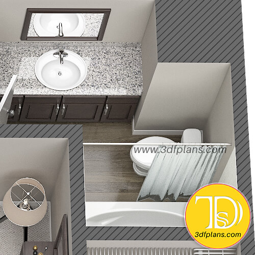 Bathroom 3d floor plan, bath 3d layout, bath planning