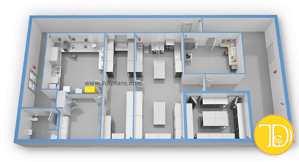 Industrial 3d floor plan, laboratory 3d layout, laboratory 3d floor plan, lab 3d, industrial 3d layout, planr 3d, plant 3d layout, factory 3d, factory 3d floor plan, factory 3d layout