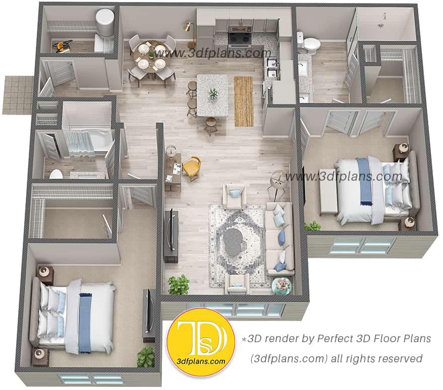3D floor plan Florida