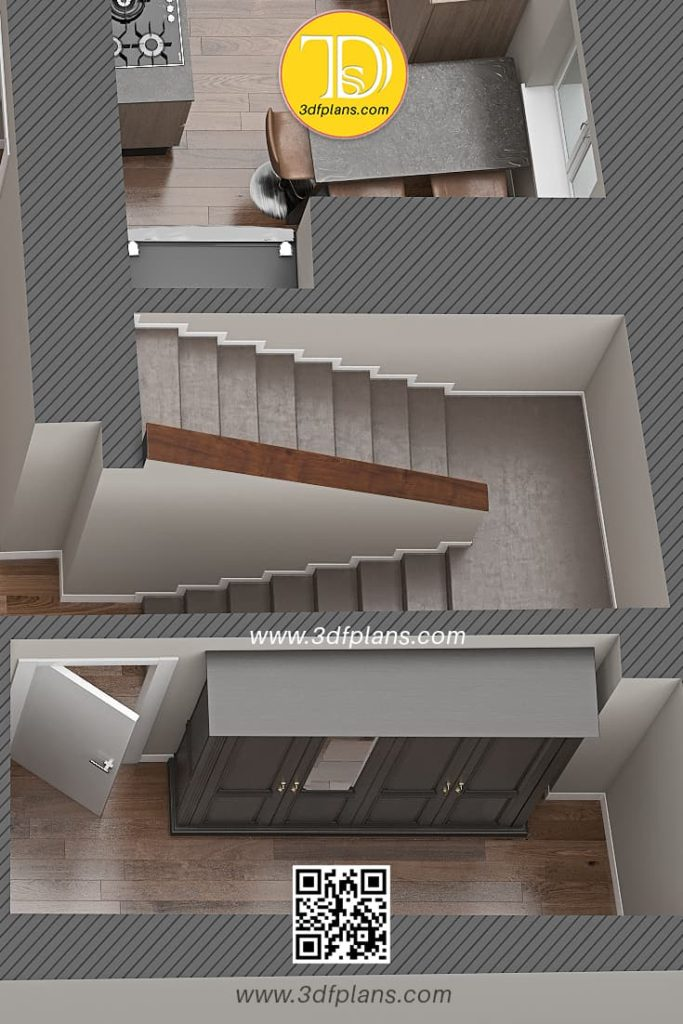 In house stairs to the 2nd floor and wardrobe near the stairs