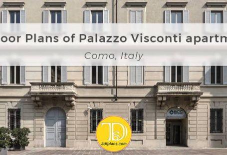 Italy apartment 3d floor plans, Planimetrie 3d a Como, Cpmo Palazzo Visconti 3D Planimetrie, apartment 3d floor plans of historic building in italy