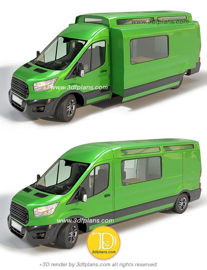 Custom ford camper exterior designs