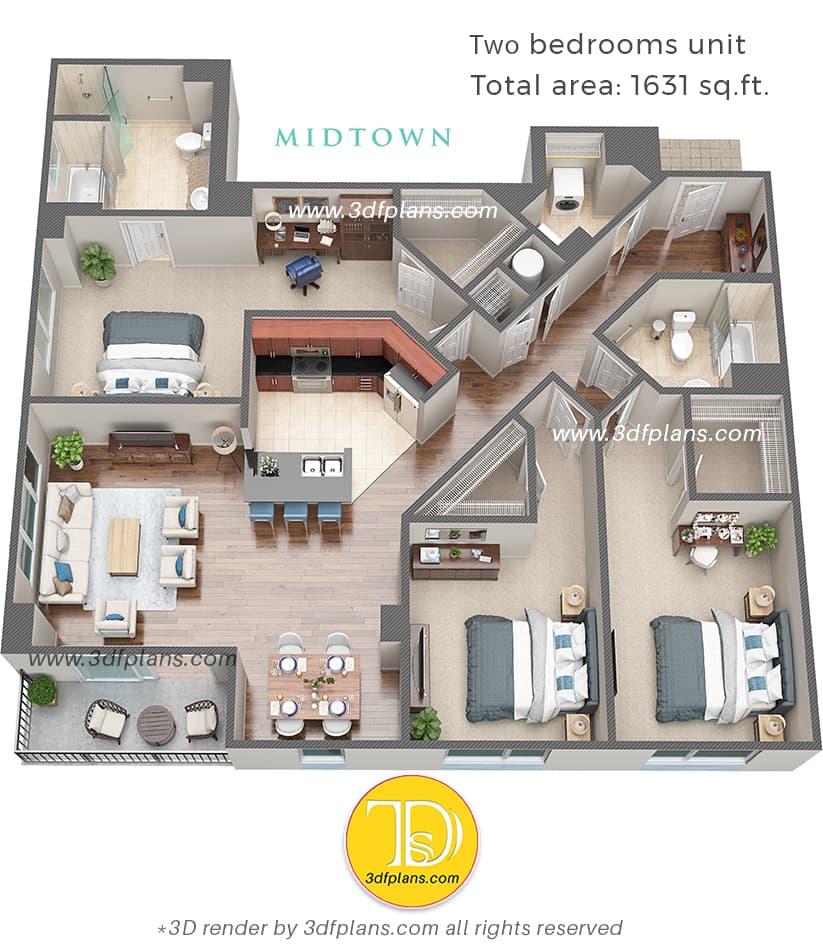 create 3d floor plan online service, 3d floor plan creator studio, 3d floor plan design studio in USA