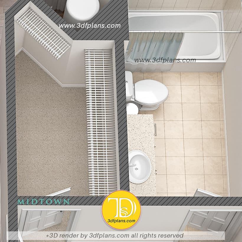 bathroom 3d renovation, bathroom 3d staging, bathroom 3d floor plan, bathroom 3d rendering