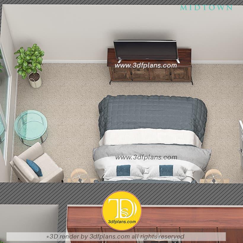 Bedoom 3d design, master bedroom, bedroom 3d floor plan, USA bedroom, bedroom in Florida