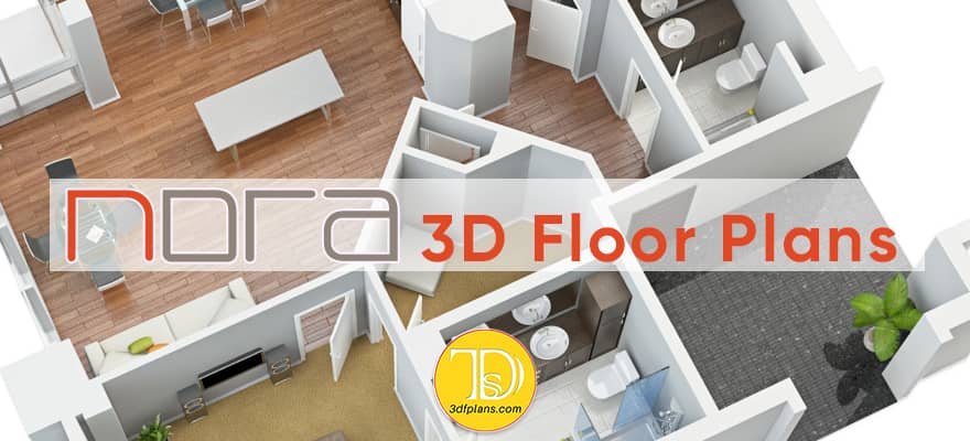 3d floor plan rendering of the multifamily property in Orlando